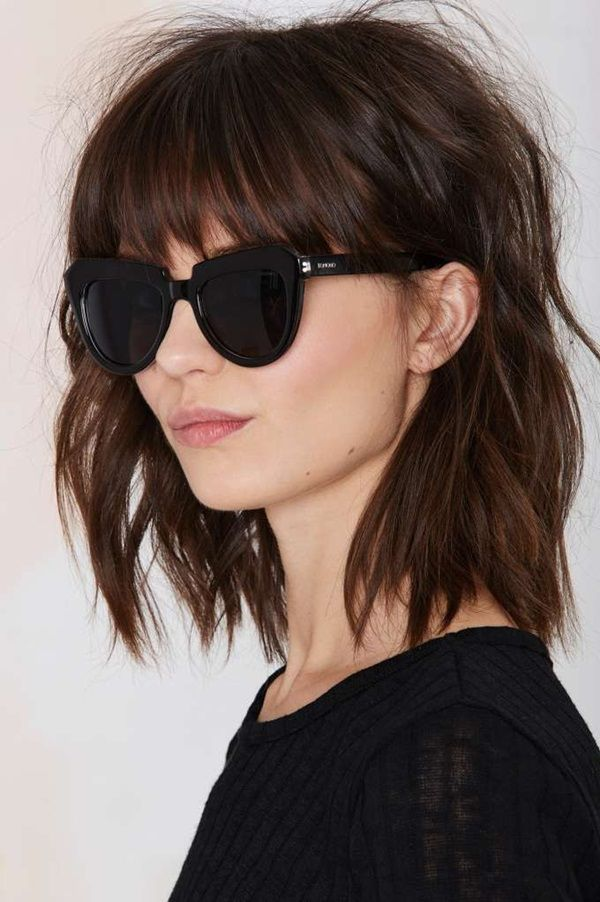Lob with Bangs 35 Short Hairstyles with