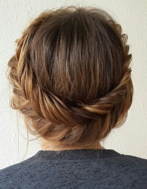Fishtail Crown Updo