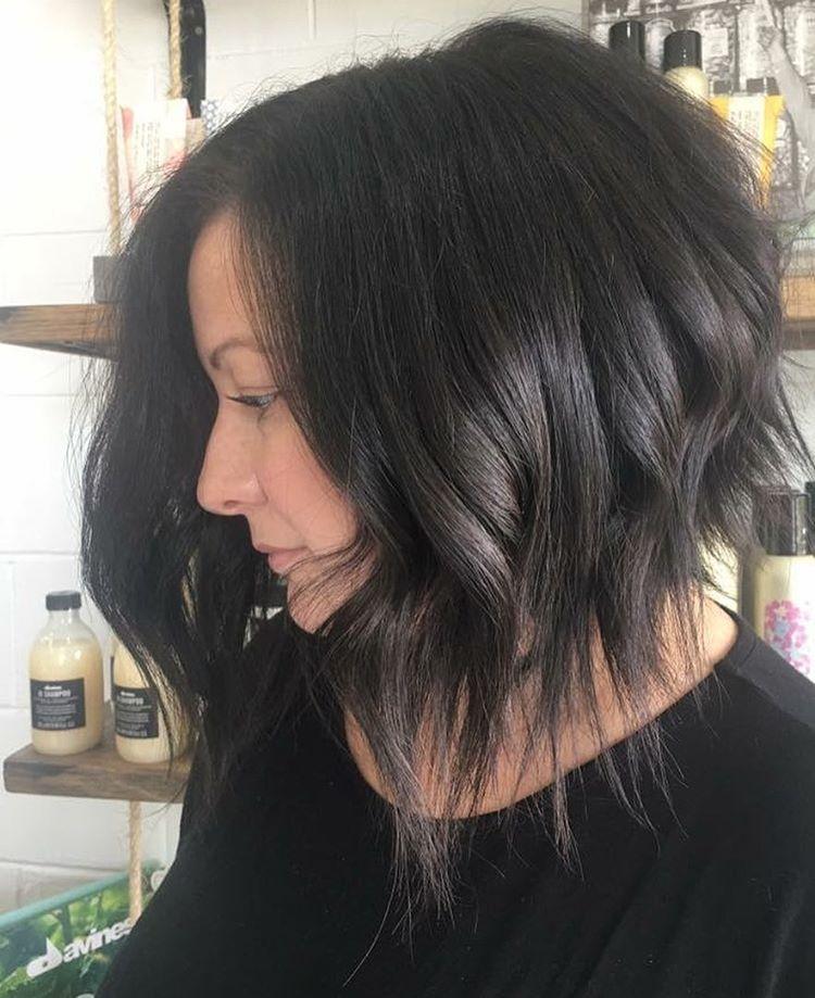 Edgy Lob Haircut