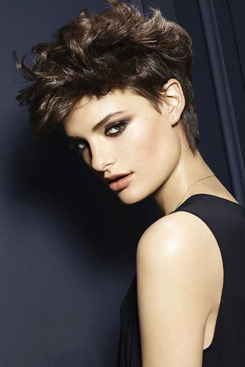 Edgy Short Wavy Hair