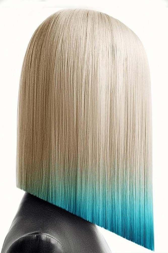 Golden and Pastel Blonde Inverted Lob