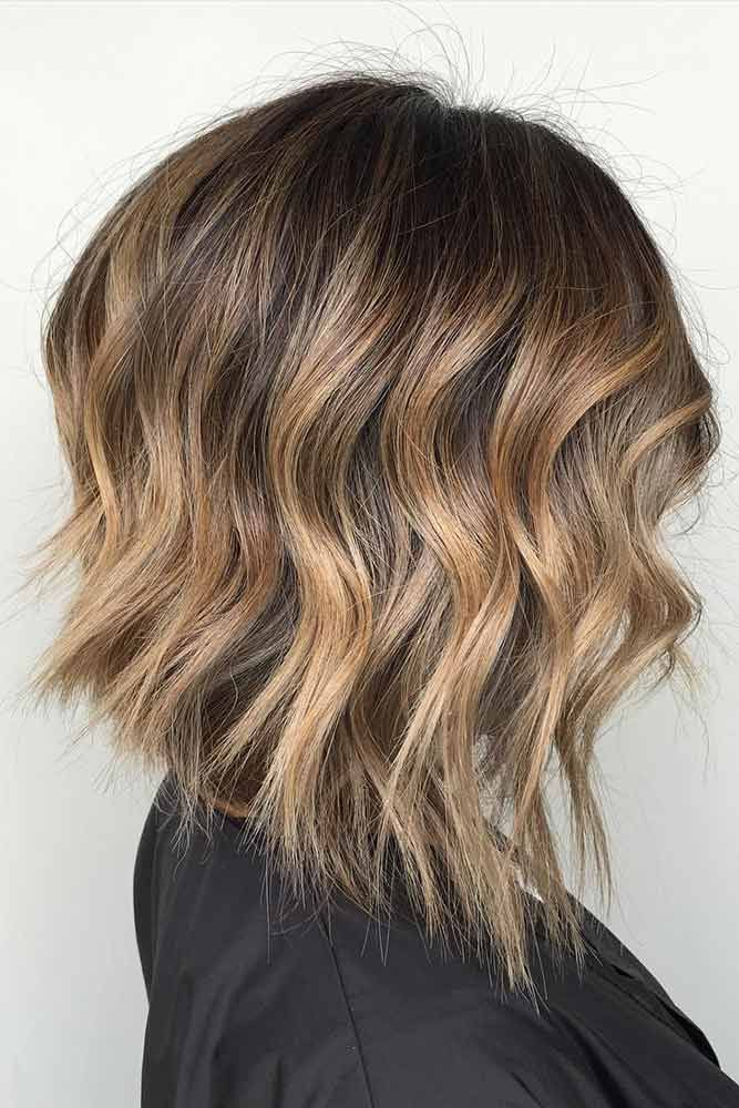Inverted Wavy Lob with Highlights