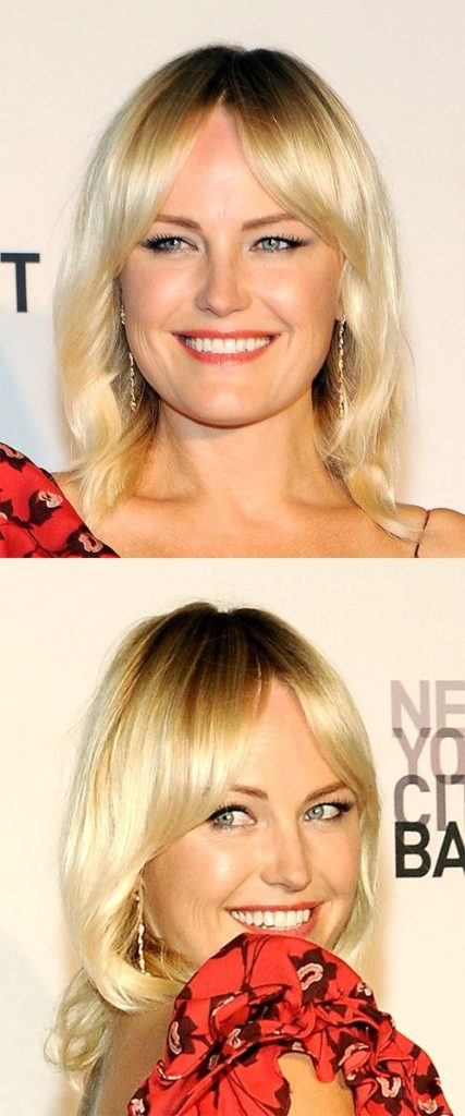 Medium Blonde Straight Hairstyle