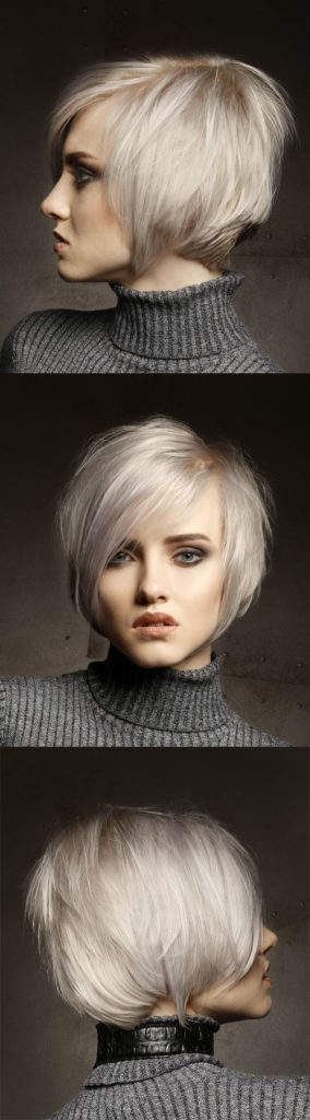 Platinum Blonde Short Shag Haircut