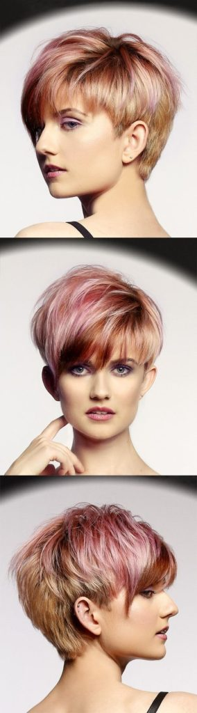 Short Straight Pink Pixie