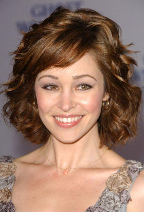 Short Wavy Hair with Fringe