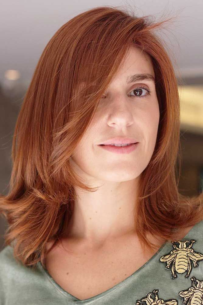 Side Swept Copper Red Lob