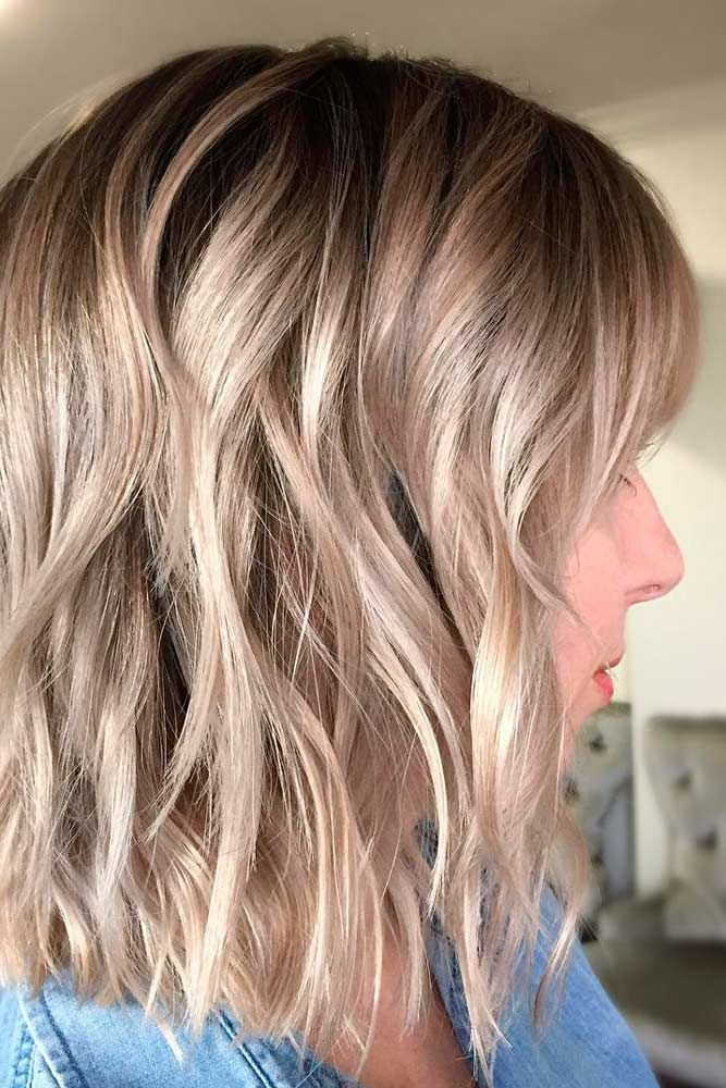 Blonde Wavy Lob Haircut