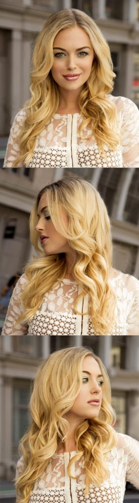 Light Blonde Long Wavy Hair