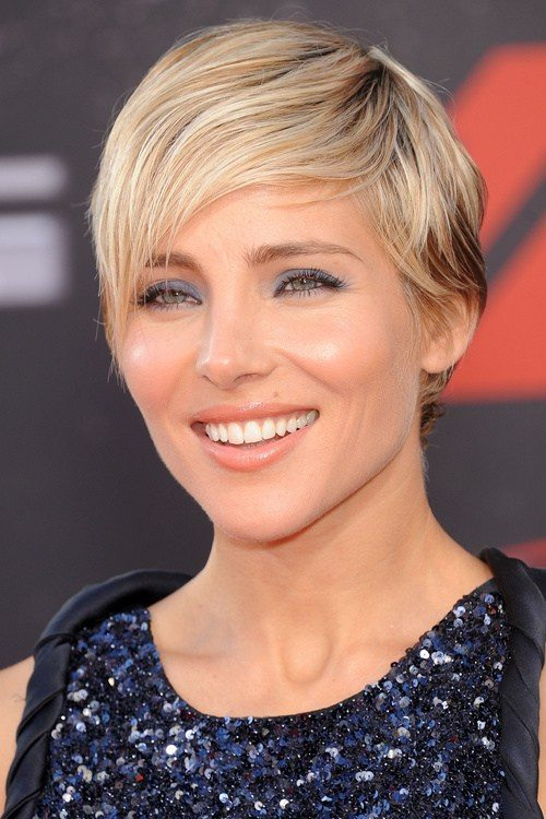 Short Blonde Hair with Wispy Bangs