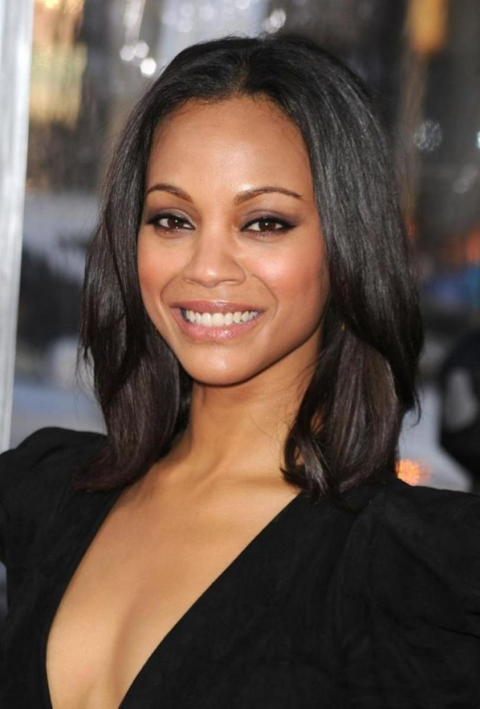 Medium Straight Hairstyle for Black Women