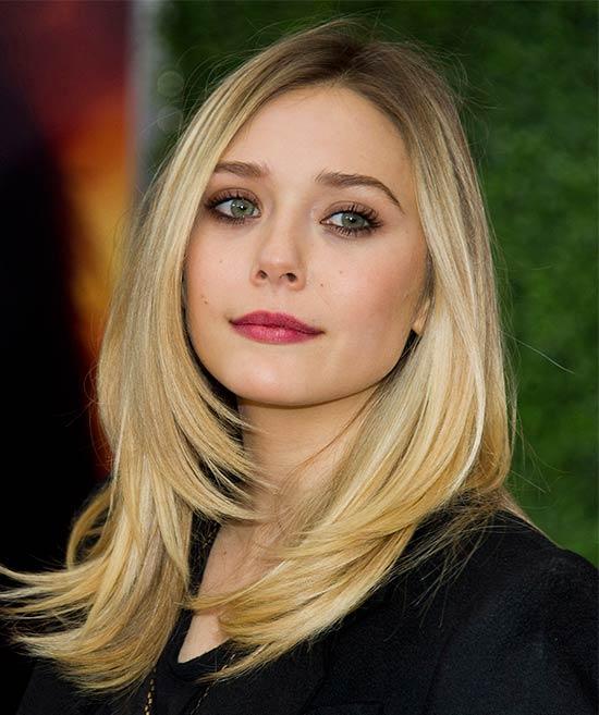Blonde Medium Straight Hairstyle