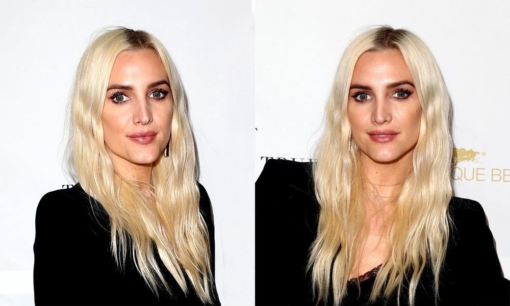 Middle Parted Long Blonde Hair with Waves