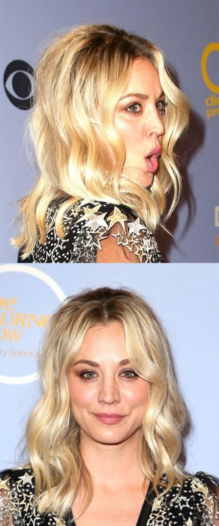 Center Parted Medium Wavy Hairstyle