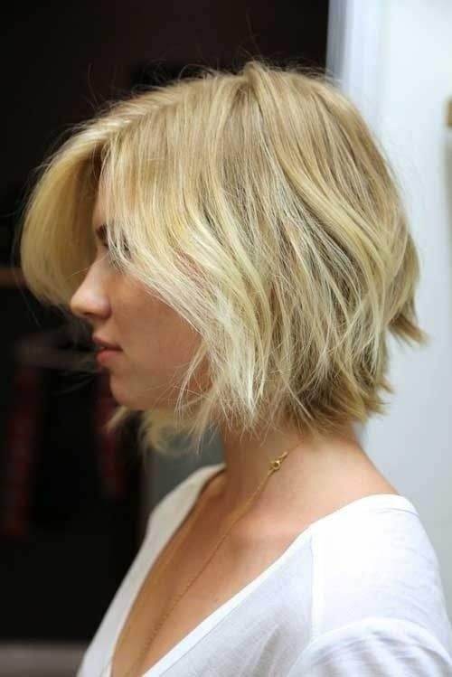 Shaggy Blonde Bob with Layers