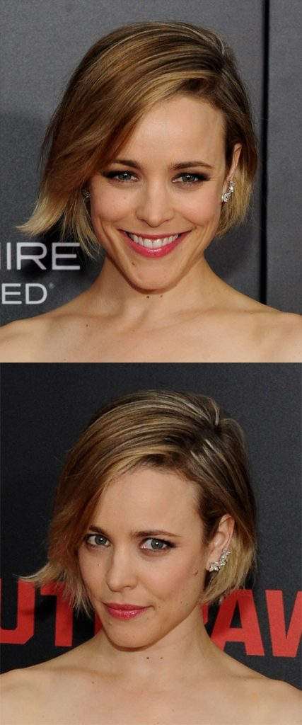 Side Parted Short Hair with Layers