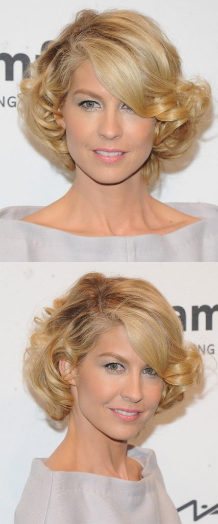 Short Blonde Hair with Curls