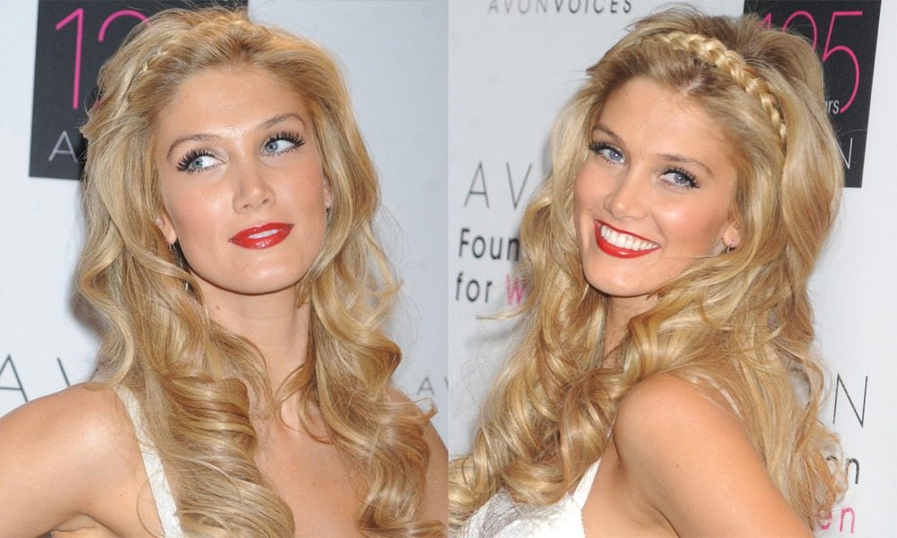 Long Wavy Blonde Hair with Braided Headband