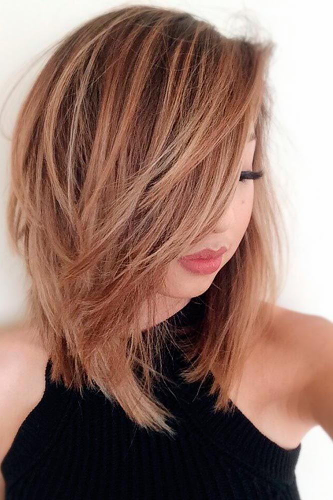 30 Medium Hairstyles For Thick Hair To Complement Your Look Haircuts Hairstyles 2020