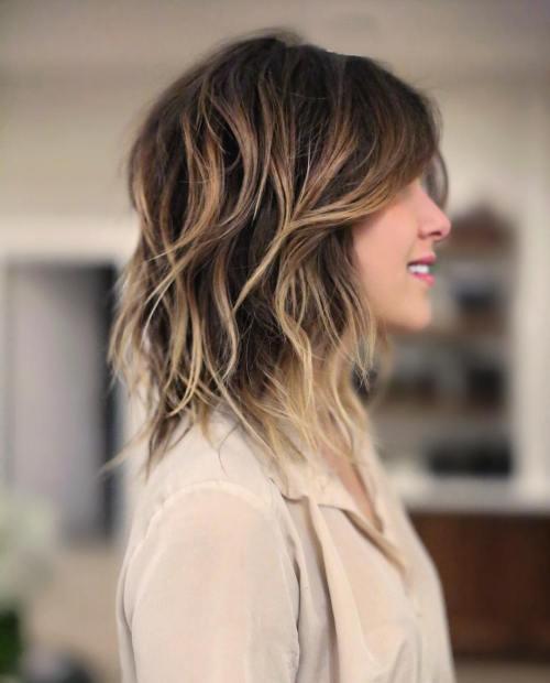 Blonde Balayage Shag Haircut