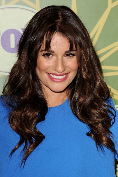 Long Brunette Hair with Parted Bangs