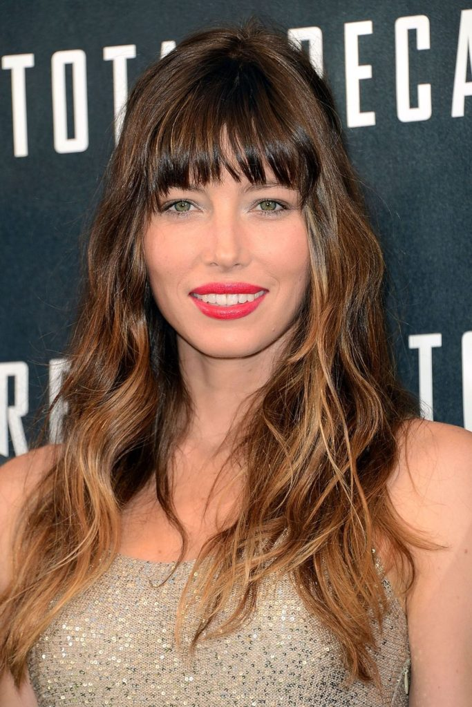 Long Ombre Hair with Waves and Bangs