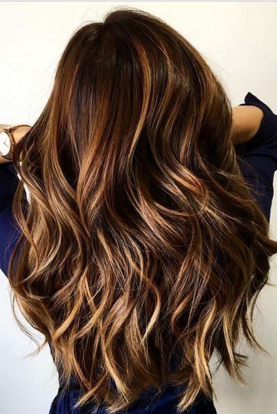 Layered Wavy Long Balayage Hairstyle