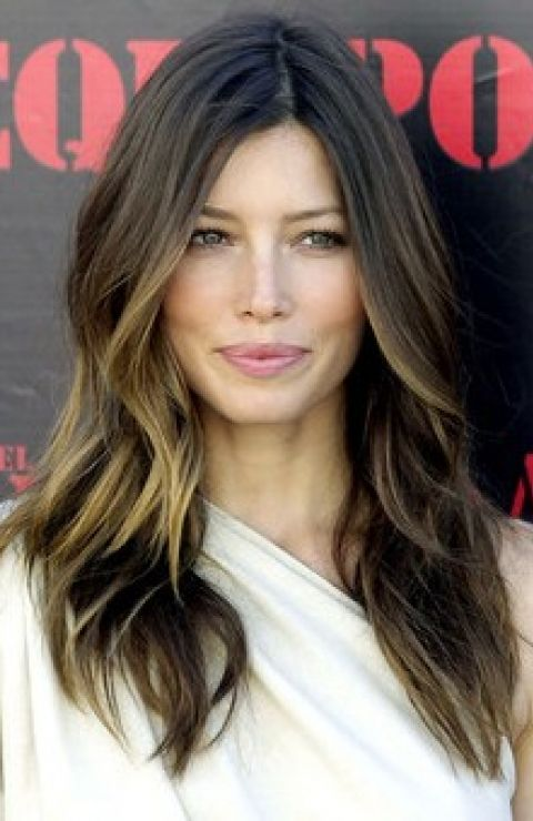Sun-Kissed Long Brunette Hairstyle