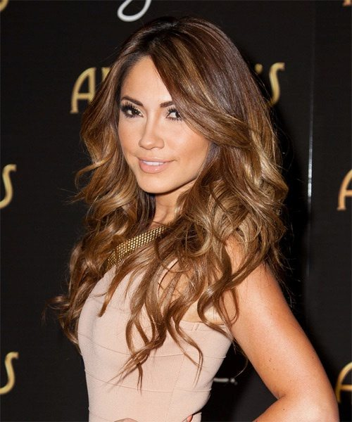 Center Parted Long Curly Hairstyle