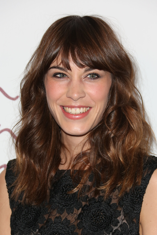 Alexa Chung Sweet and Simple Blunt Bangs