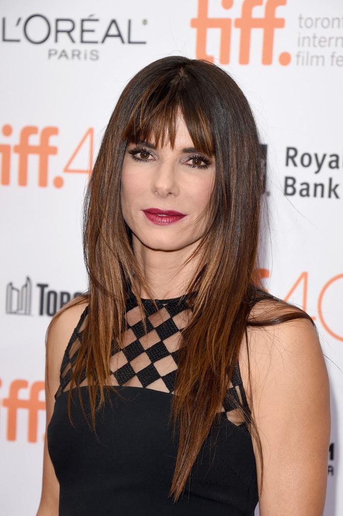 Sandra Bullock Medium Razored Layers Hairstyle