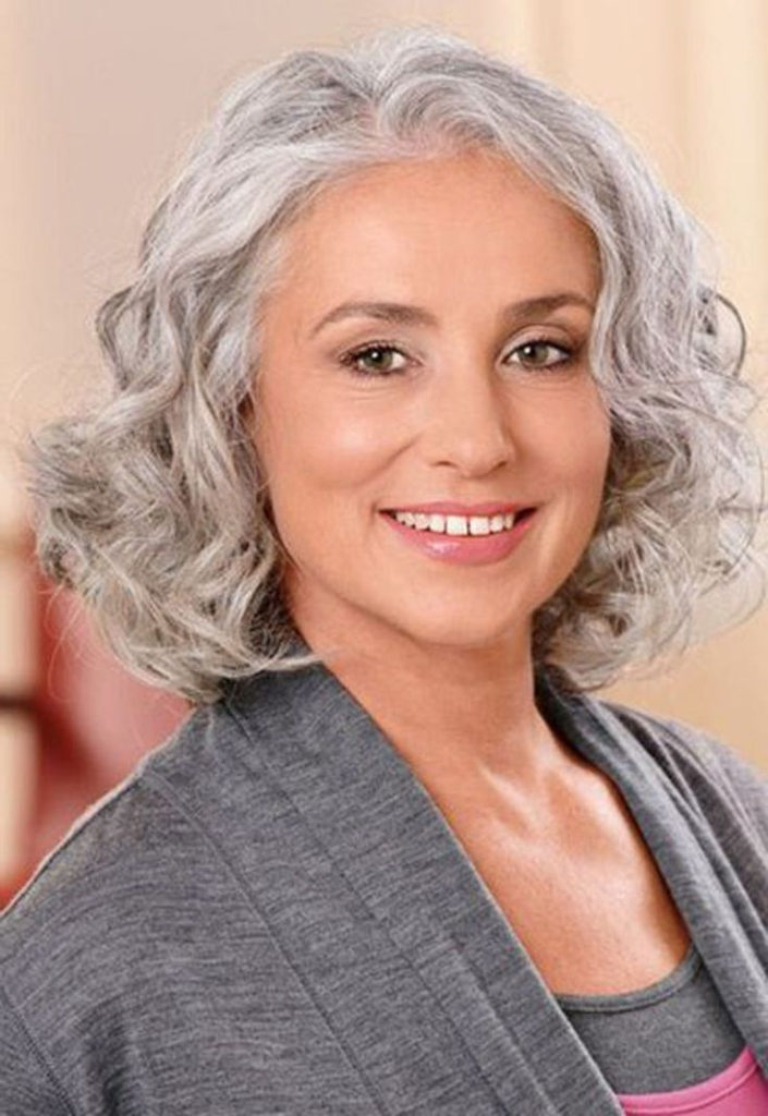 wavy gray hair styles 15 hairstyles for 50 with faces 3673