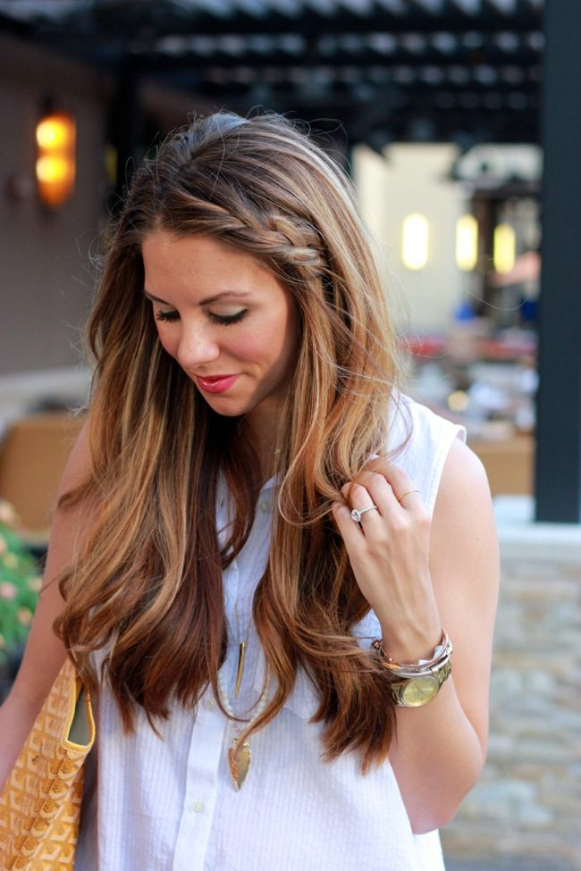Long Side Braid Hairstyle