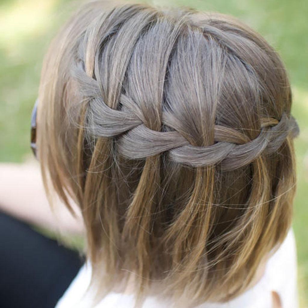 Waterfall Braid for Short Hair