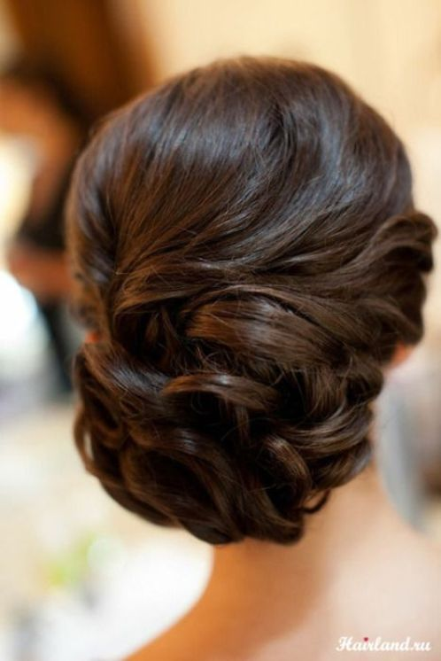 Updo with Pinned Curls