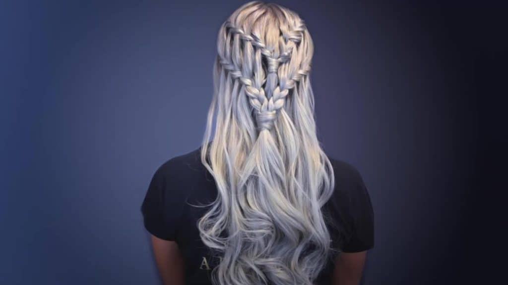 Creative Waterfall Braid Hairstyle