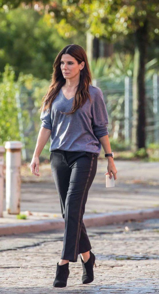 Sandra Bullock's Brunette Long Hair