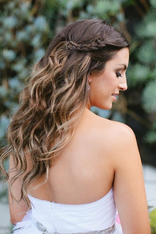 Wavy Hair with Braids