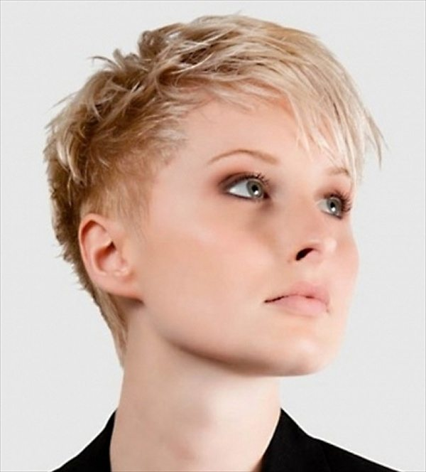 Layered Blonde Pixie Cut