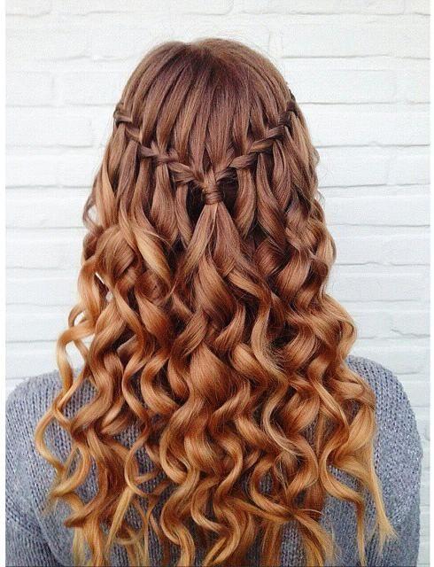 Waterfall Braid for Curly Hair