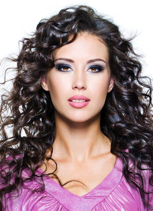 Layered Hairstyle with Spiral Curls