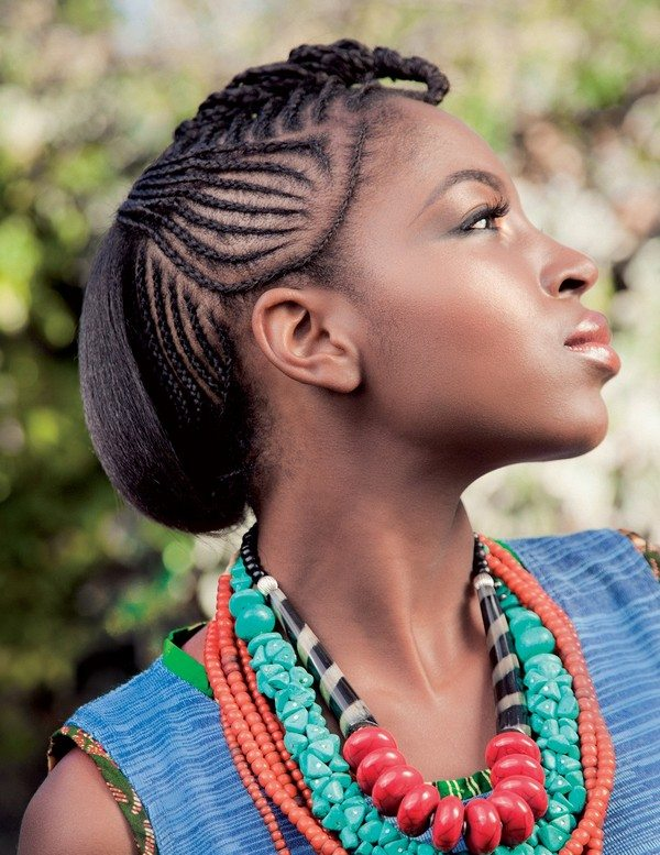 Black Cornrow Hairstyle