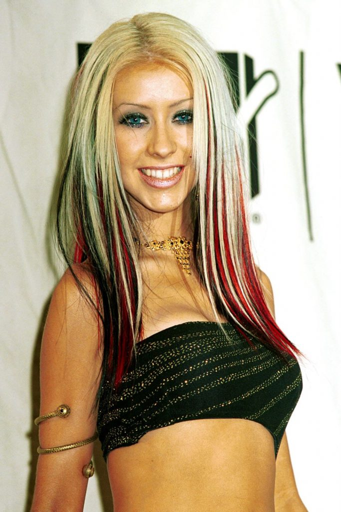Straight Hair with Color Streaks