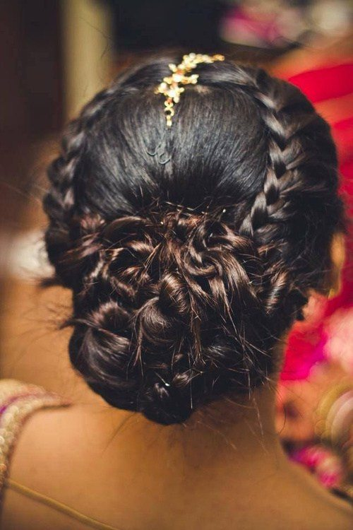 Updo with Braids and Twists