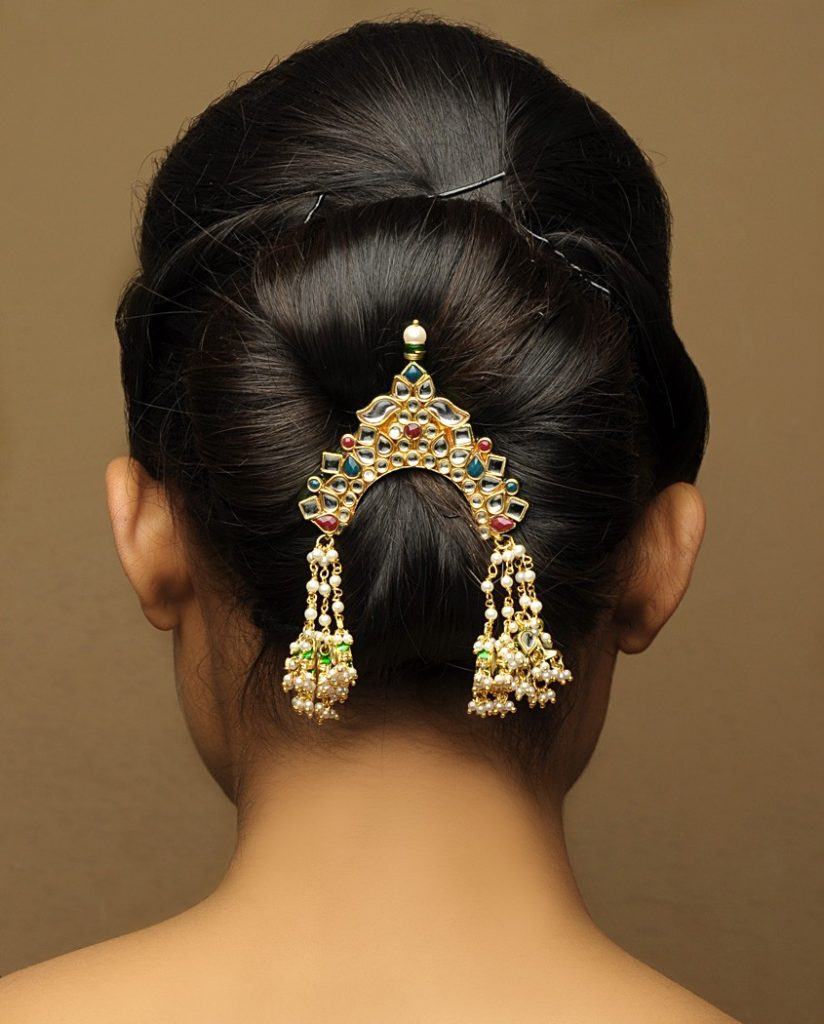 Pinned Updo in Indian Style