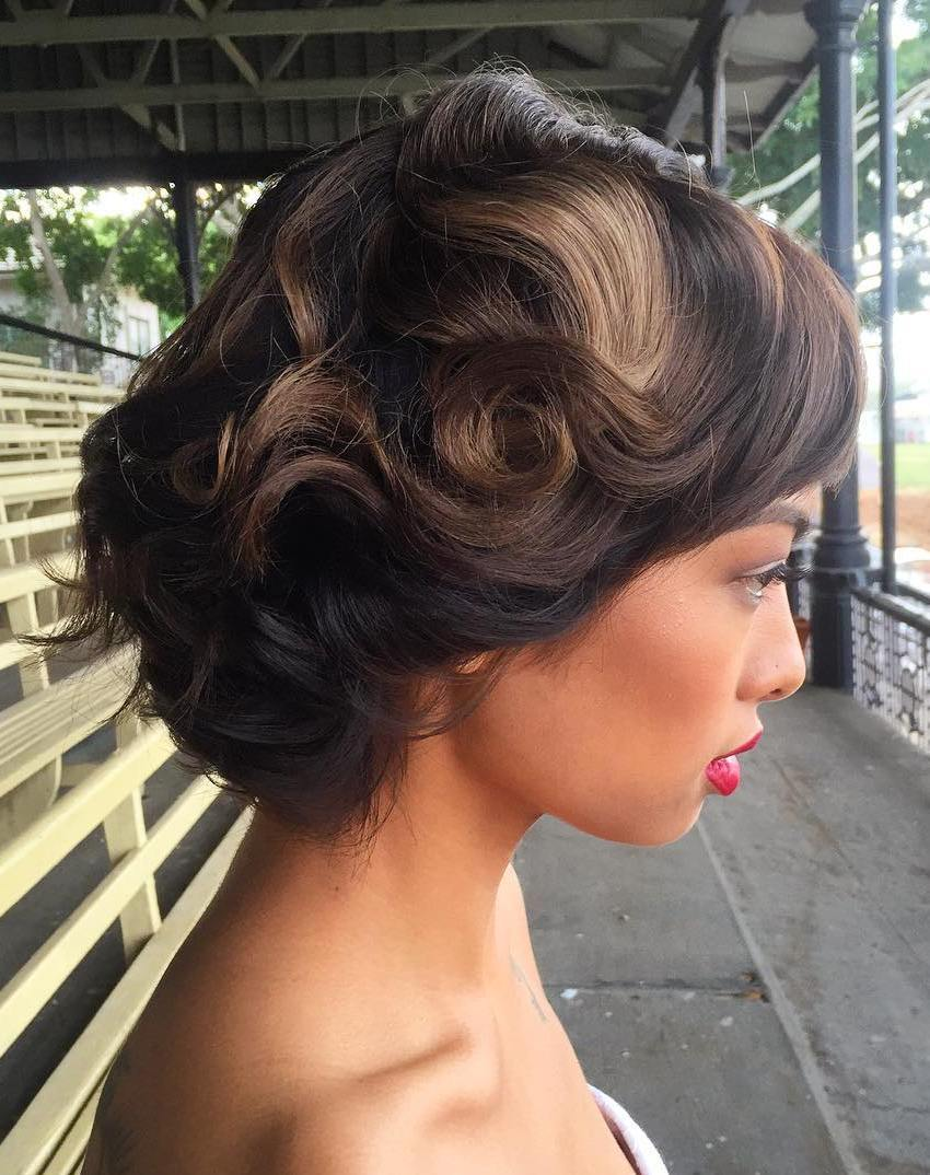 Bridesmaid Hairstyle for Short Hair