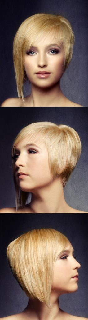 Short Straight Asymmetrical Hair with Side Swept Bangs