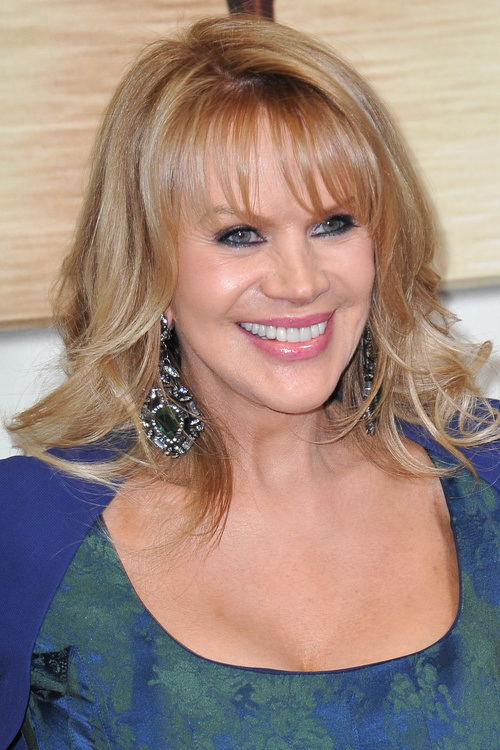 Layered Hair with Bangs for Older Women