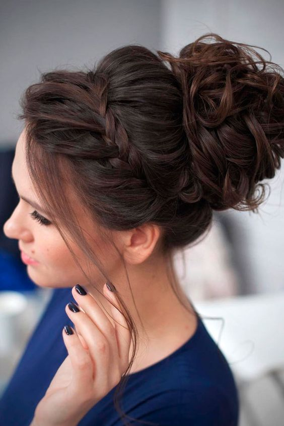 Bun Hairstyle for Prom
