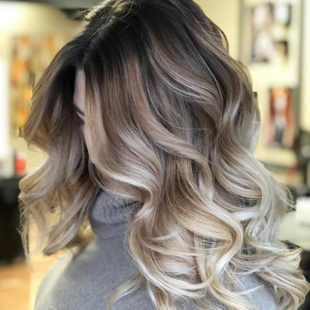 Camouflage Balayage Toning Hairstyle